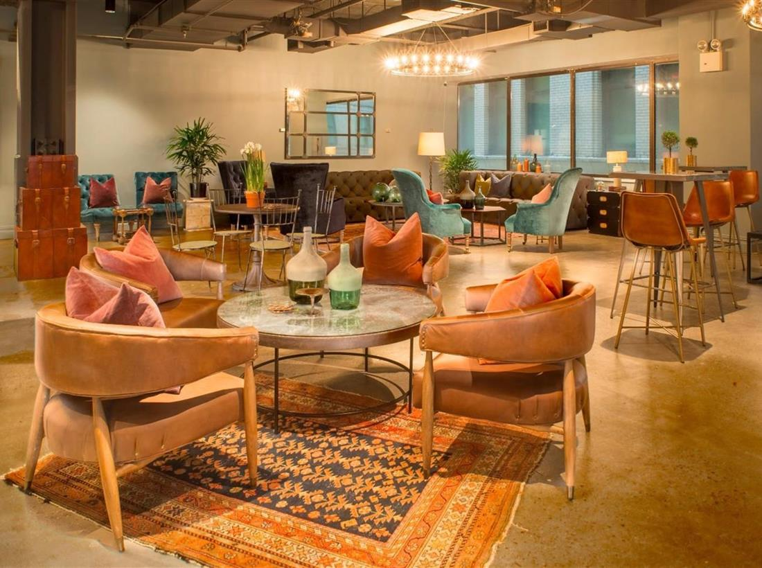 open-concept office to increase work productivity