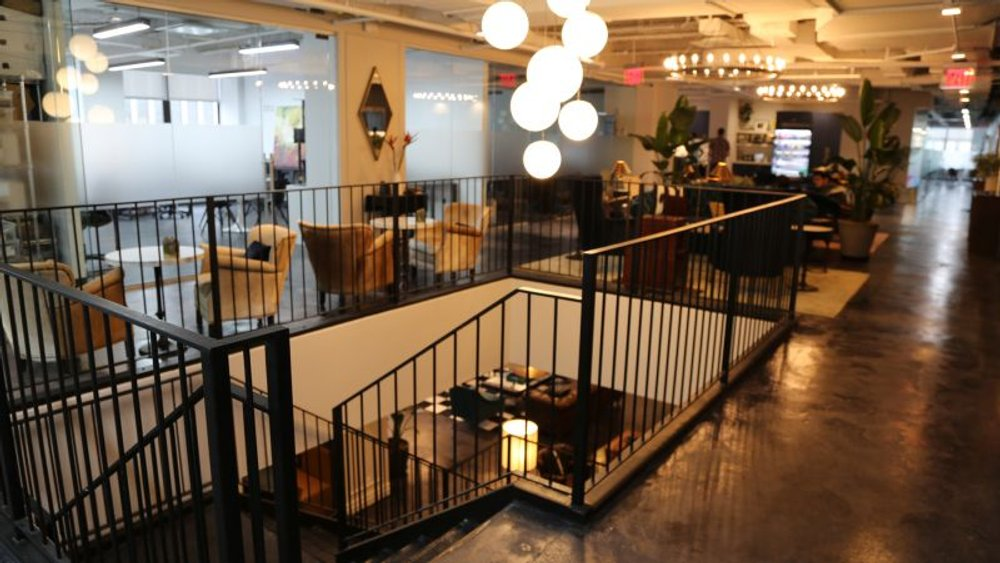 shared coworking space for increased work productivity