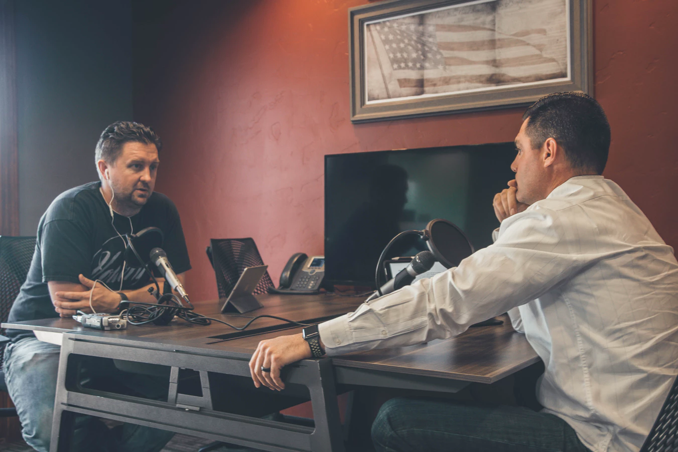 businessmen recording one of the best entrepreneur podcasts
