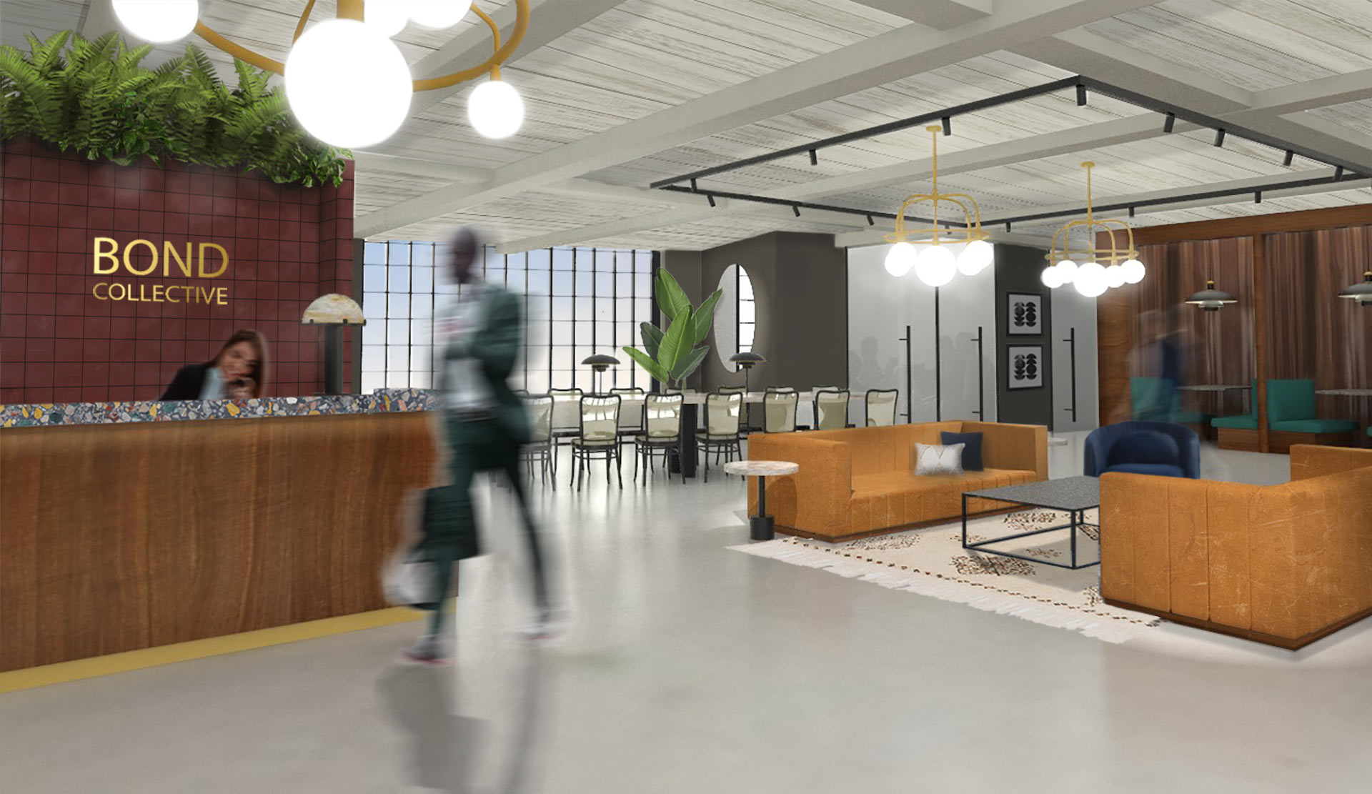 Receptionist and entrepreneur at one of Bond Collective's collaborative workspaces