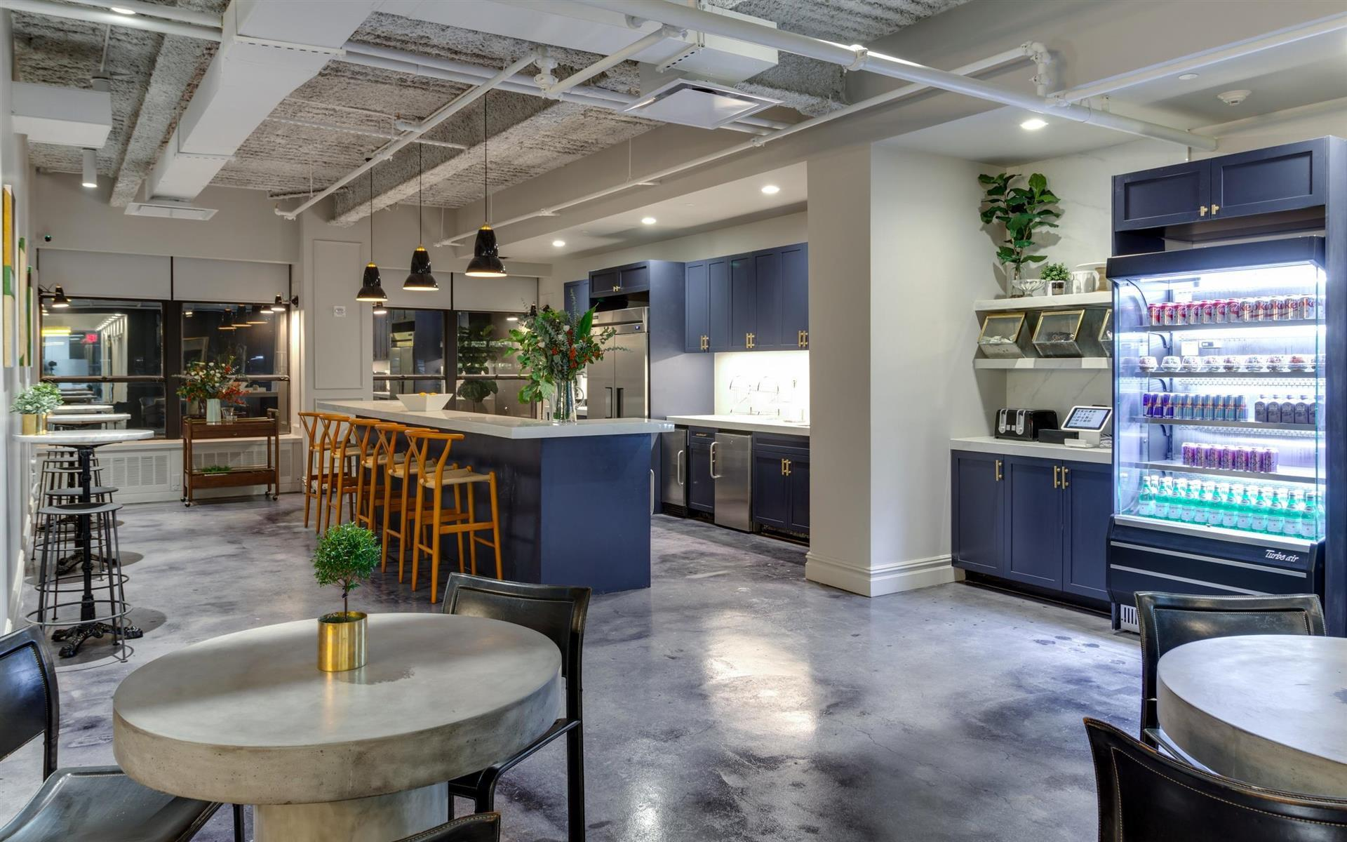 Kitchen area of a Bond Collective coworking space