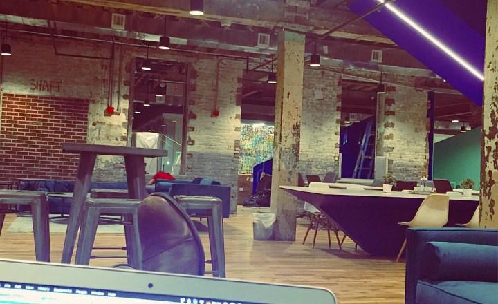 Coworking space in industrial building
