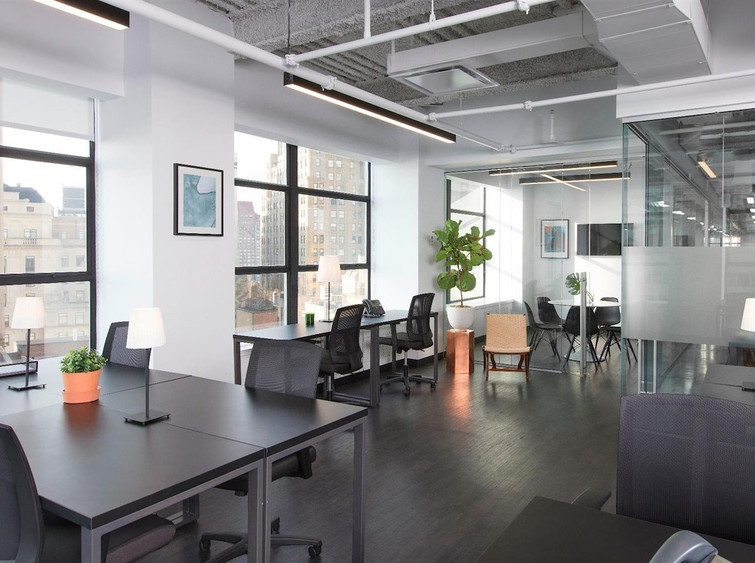 bright and airy startup office space with lots of windows