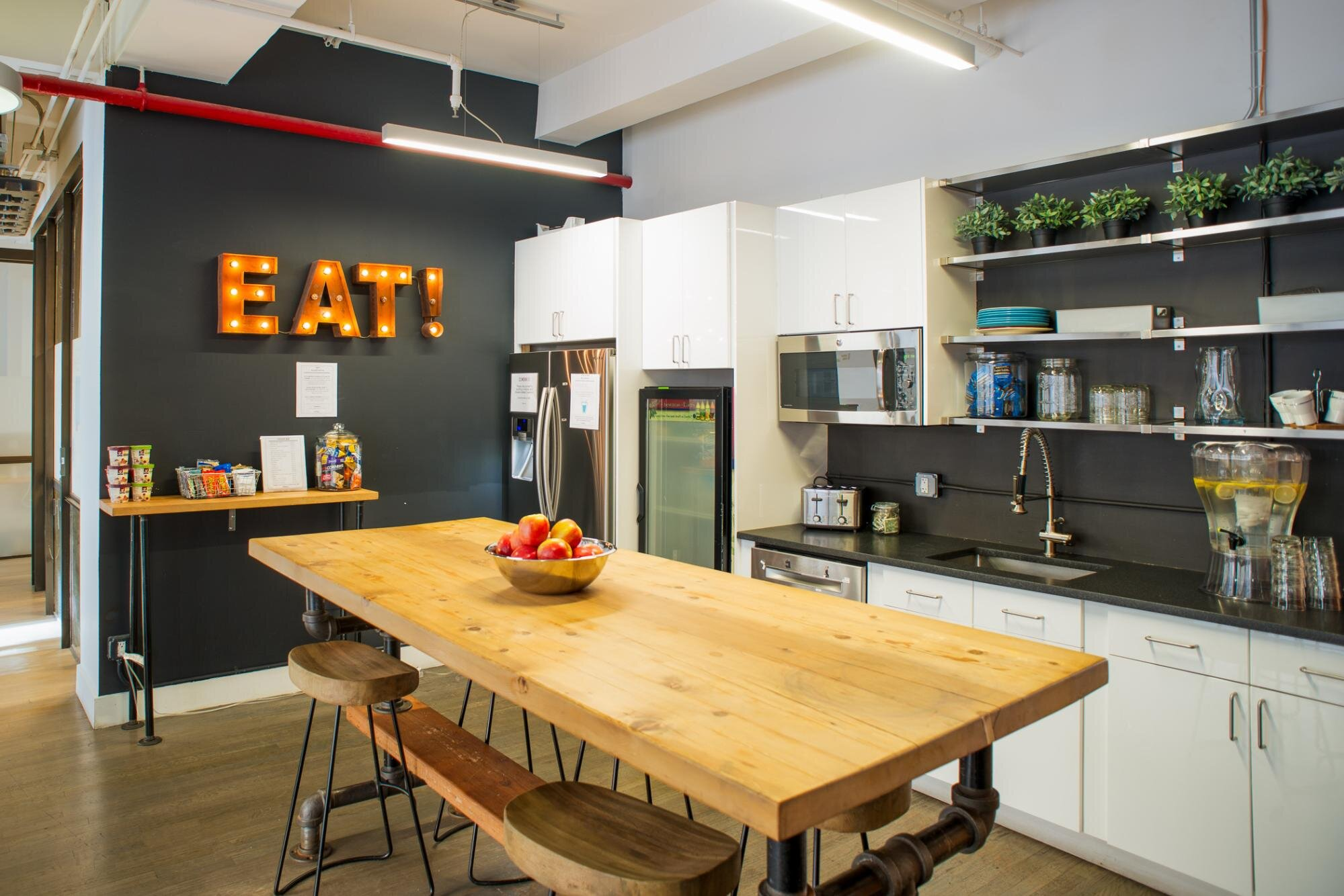 Example of a kitchen in a flexible office space