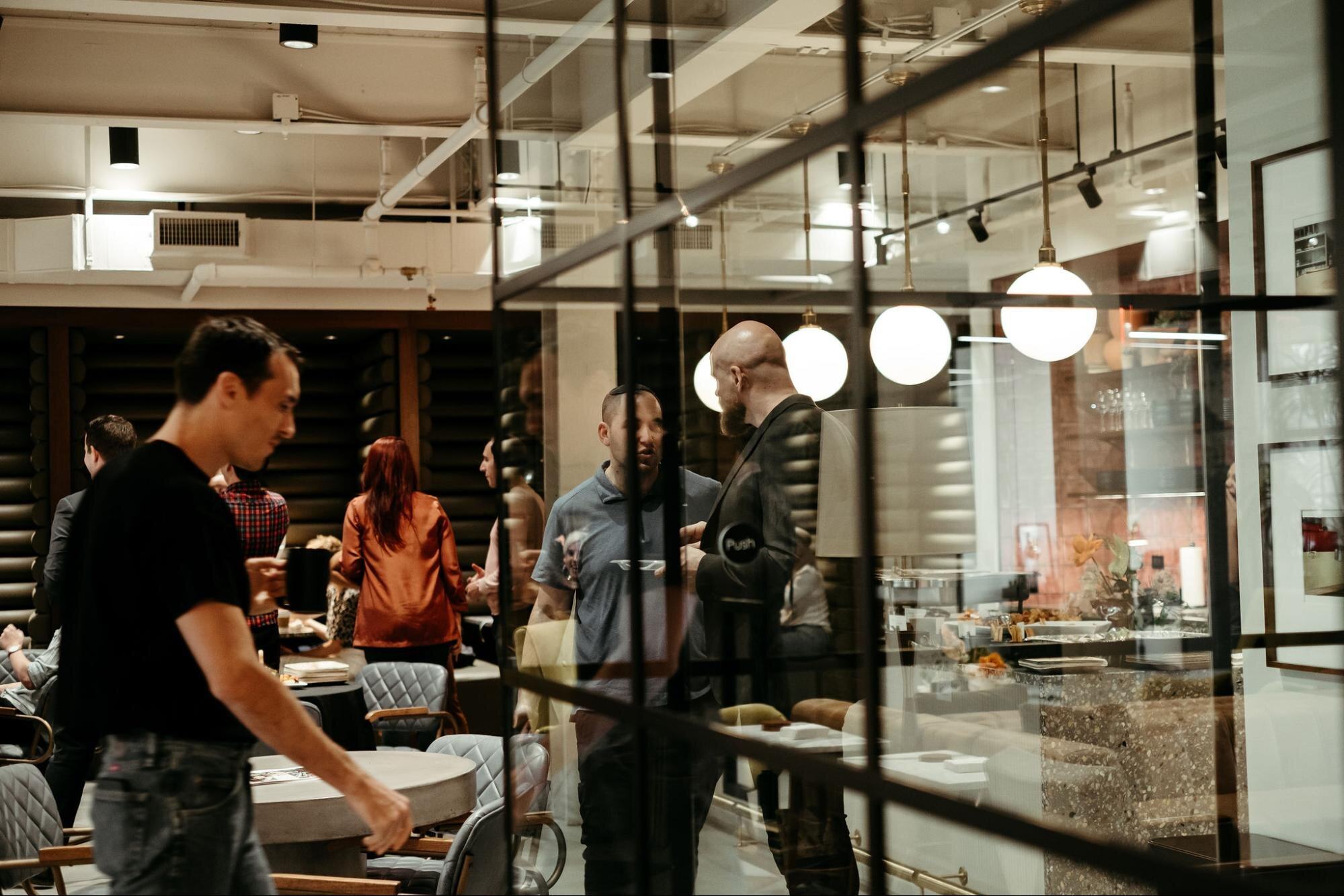 Company culture inside a coworking space