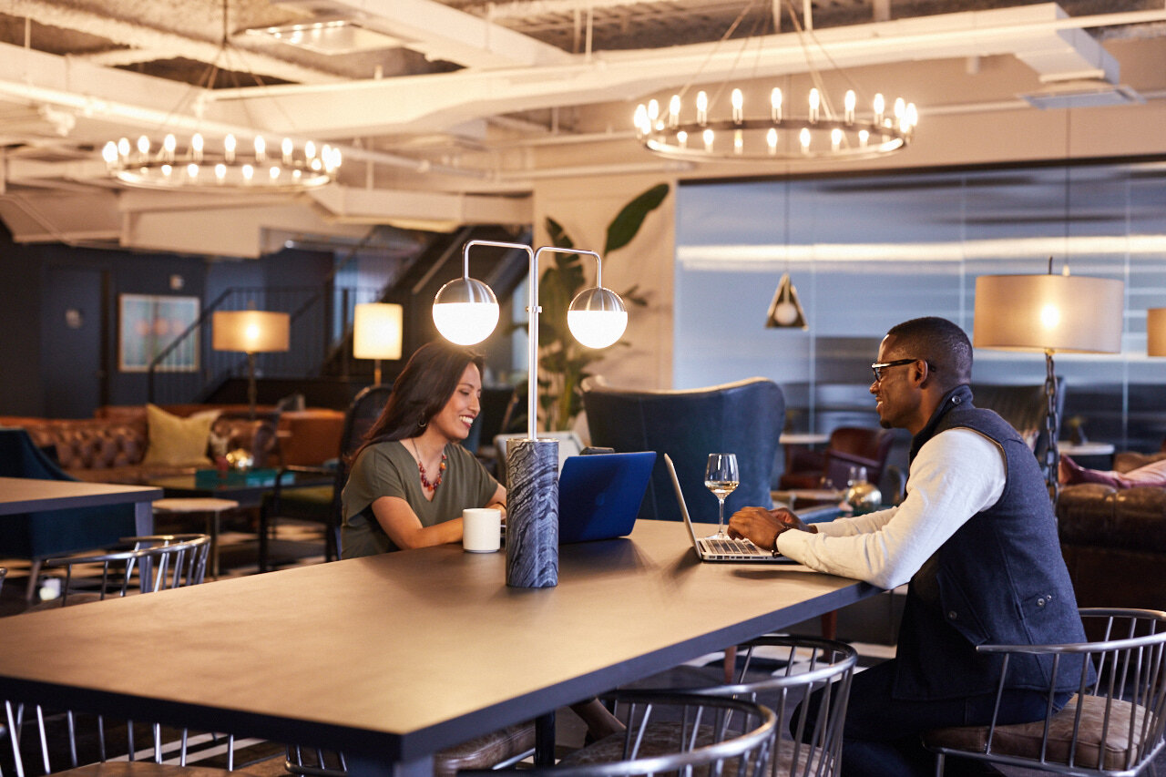 discussing office sharing vs. coworking