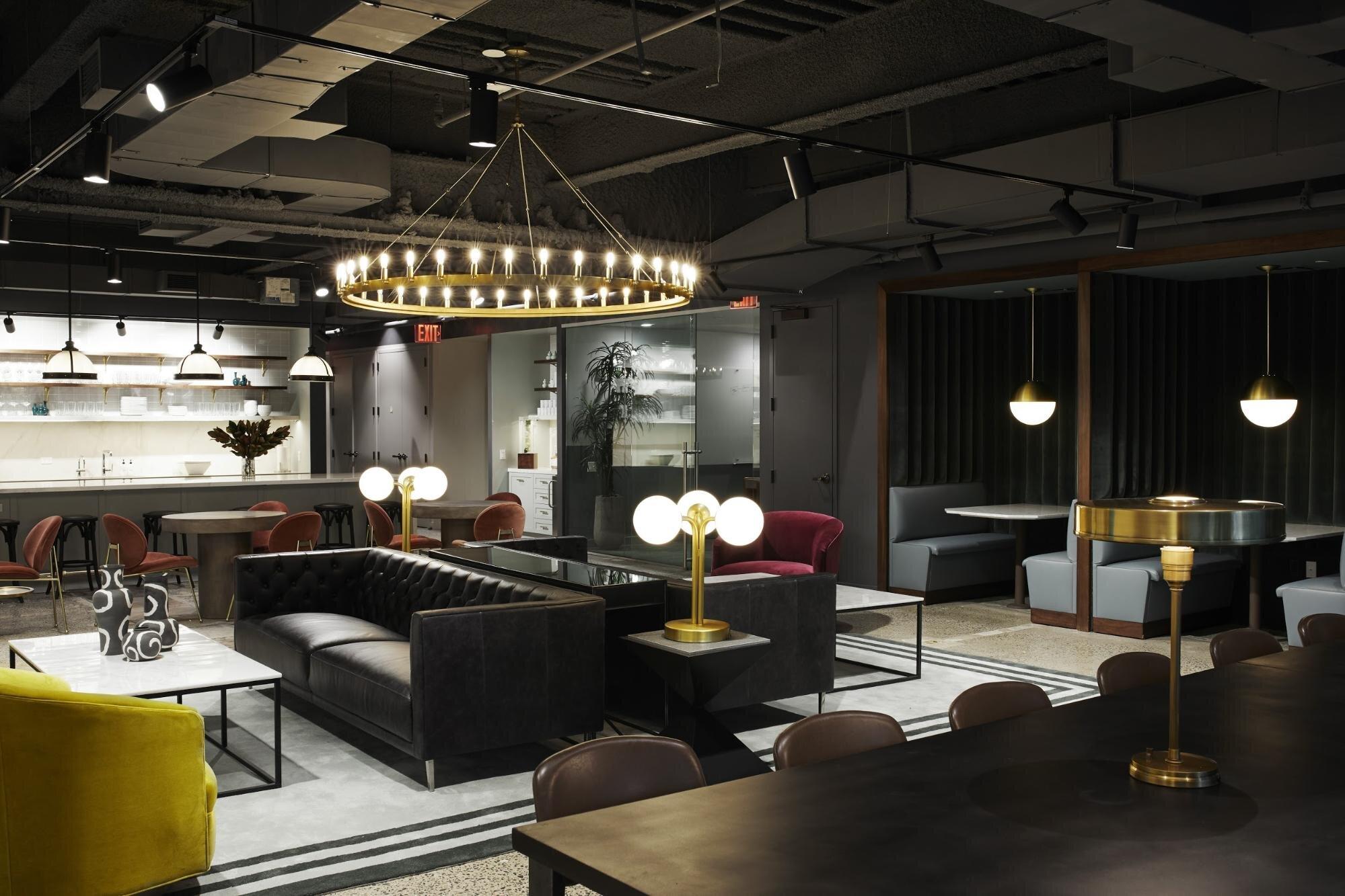 Inside decor of a flexible workspace
