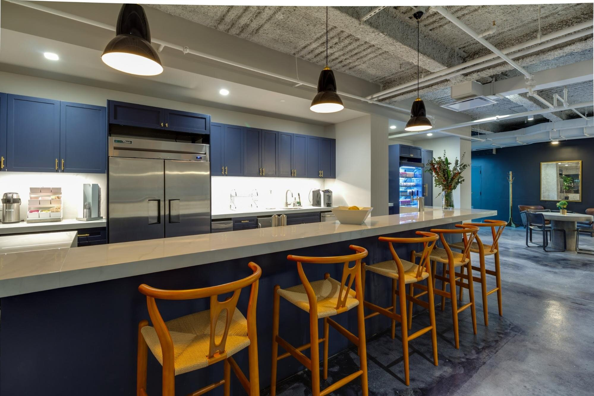 Kitchen lunch are in a hybrid workplace