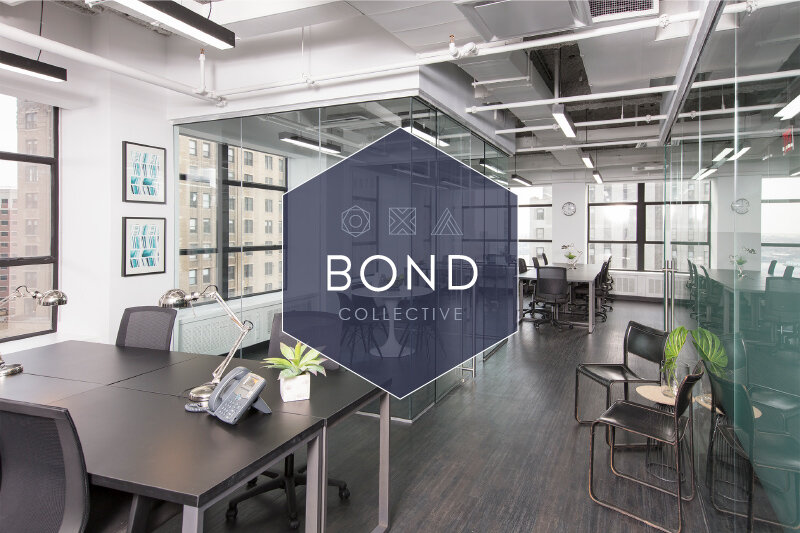 Bond Collective workspace with shared desks