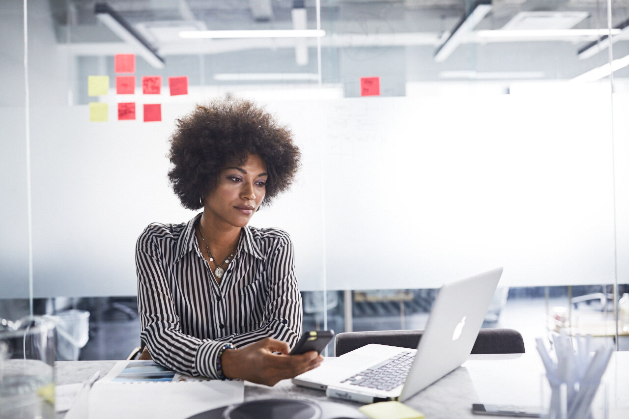 Woman researching virtual team building activities