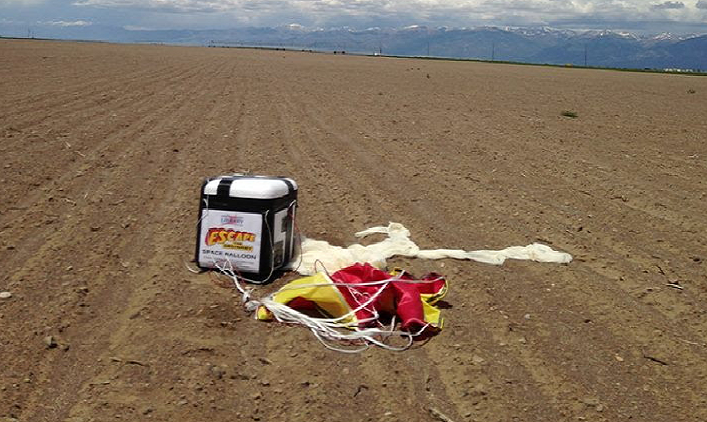 Balloon on the ground in Hooper, CO.