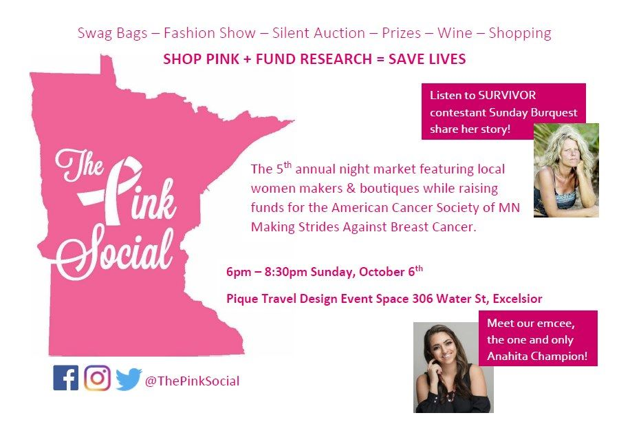 Breast Cancer Event The Pink Social Minnetonka