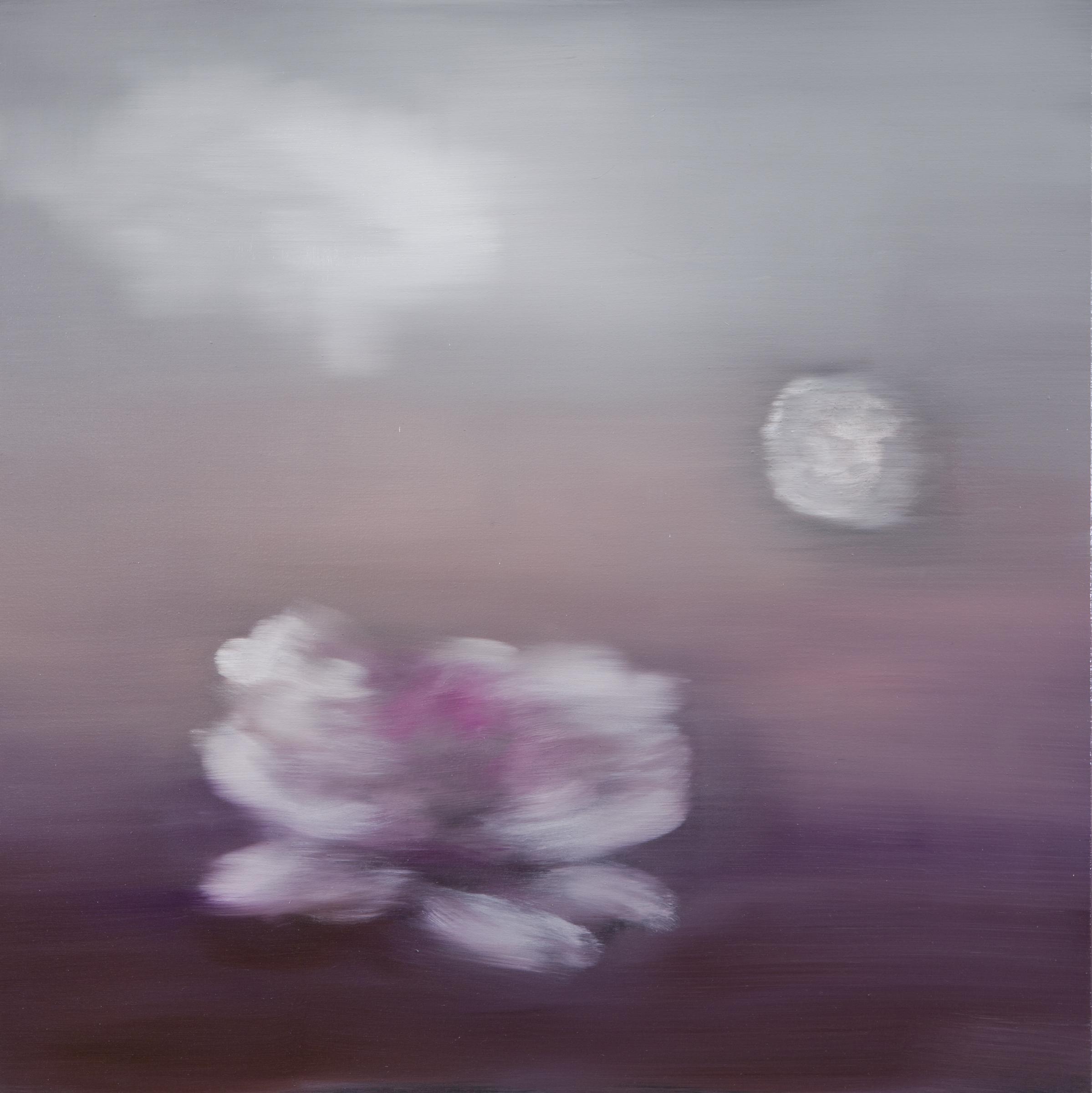 Ross Bleckner,  Untitled  2018 30 x 30 in Oil on canvas