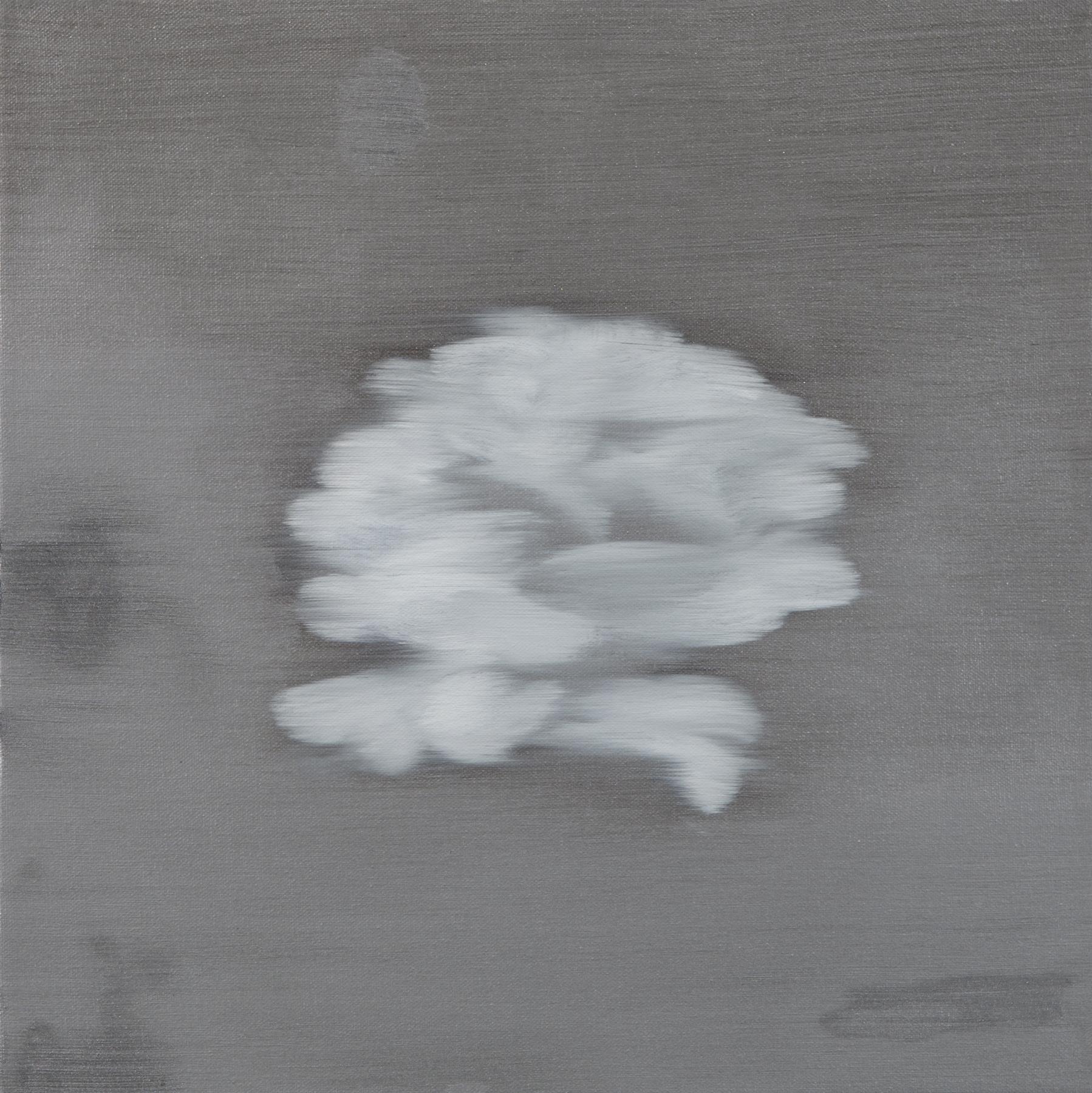 Ross Bleckner,  Untitled  2018 18 x 18 in Oil on canvas