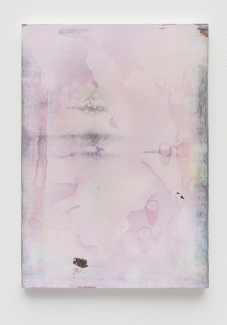 Marc Handelman,  Towards a Form of Voluntary Dispossession (for Edouard Glissant) #9  2016-2017 19 x 13 3/8 in Watercolor and mixed media on paper, mounted on panel
