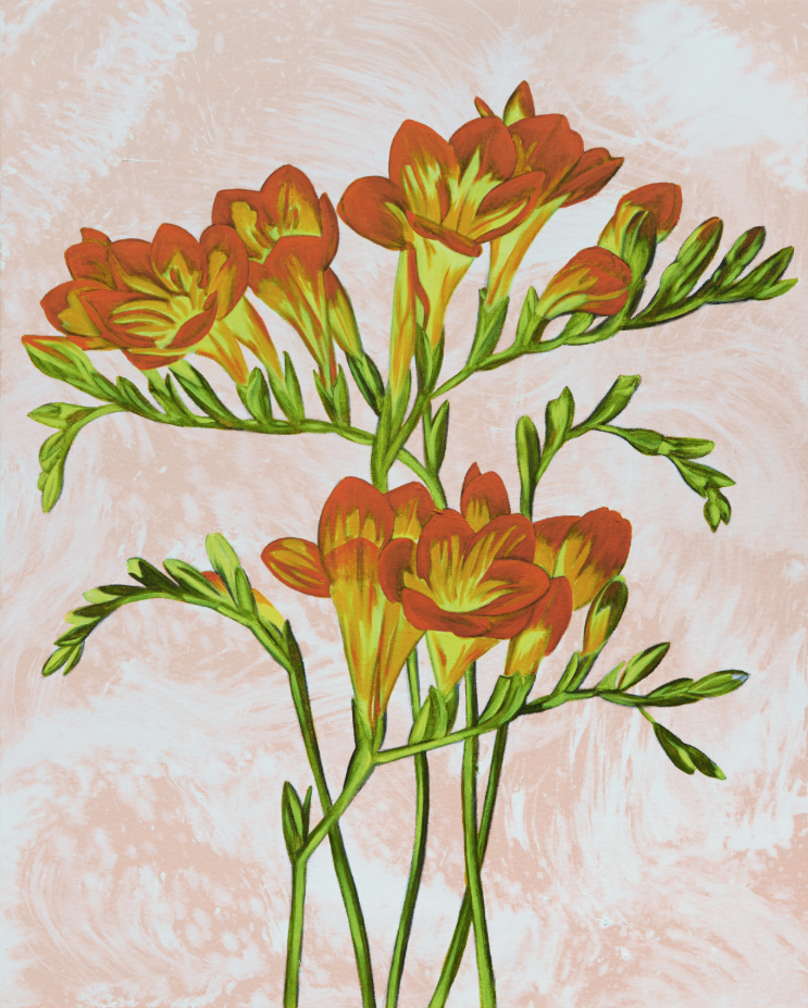 John Newsom,  Intimate Interpretation  2019 'Meadow Paintings' Series 30 x 24 in Oil on canvas
