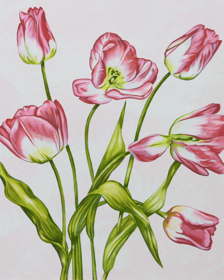 John Newsom,  Tender Certainty  2019 'Meadow Paintings' Series 30 x 24 in Oil on canvas