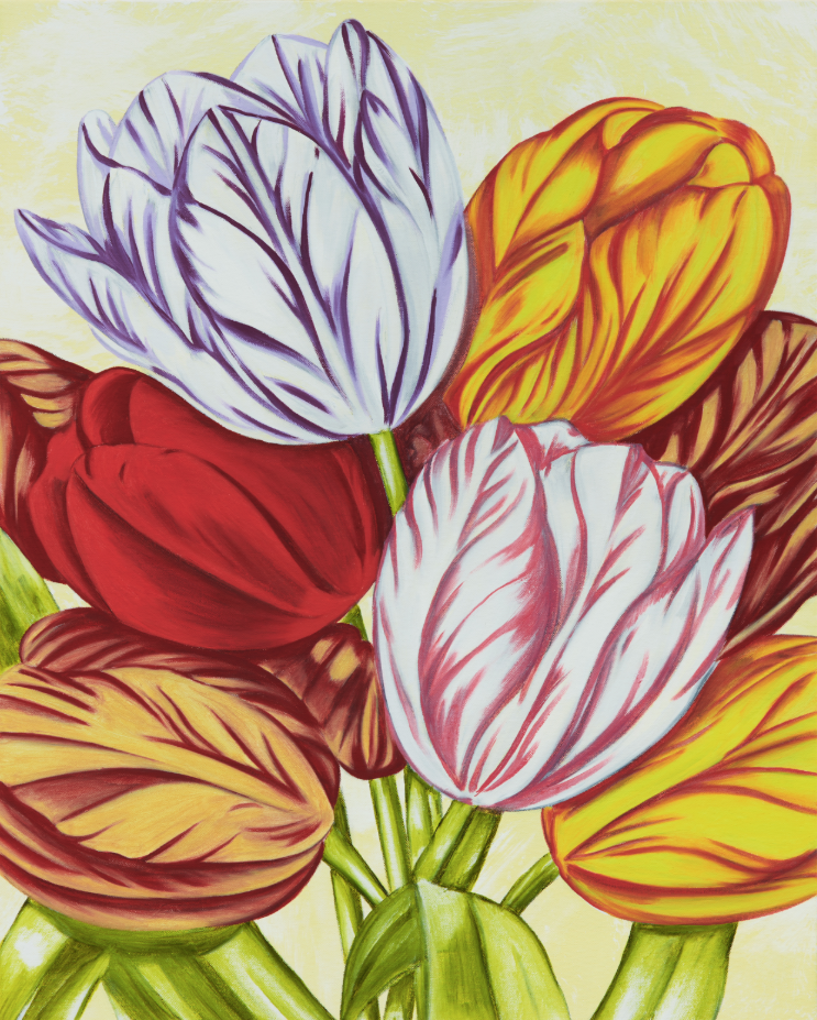 John Newsom,  Aurora  2019 'Meadow Paintings' Series 30 x 24 in Oil on canvas