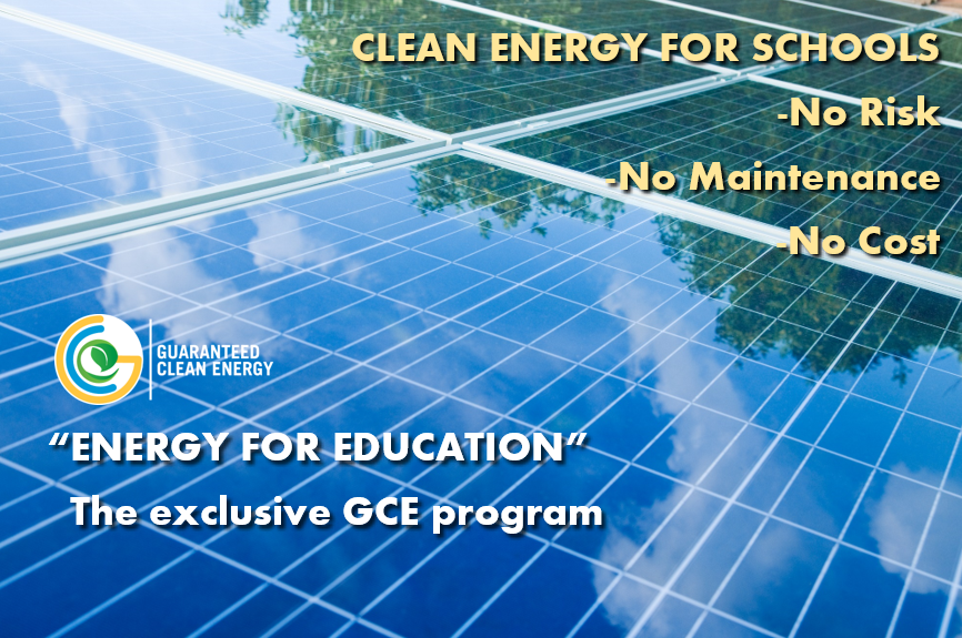 GCE has developed a systematic approach to energy generation for schools, and 2019 couldn't be better timing.
