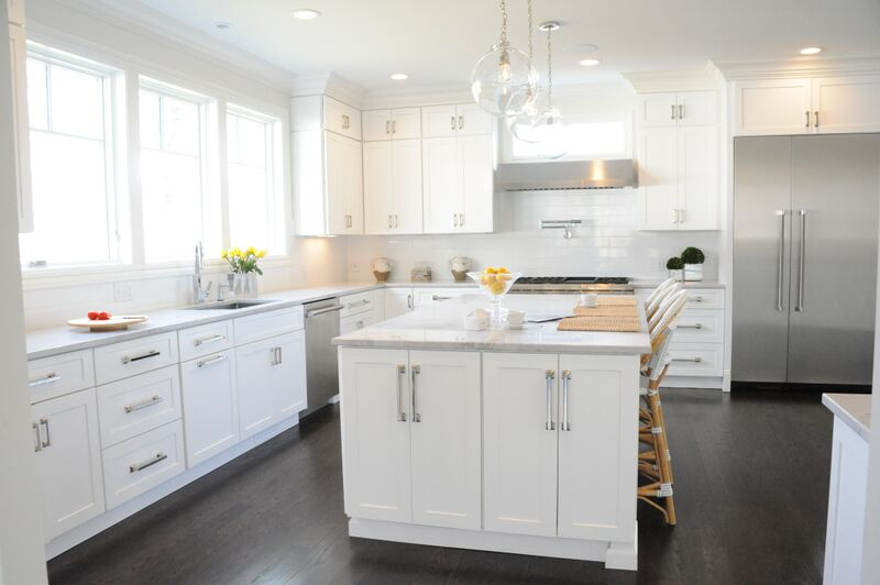 KITCHEN - ISLAND WITH LIGHT FIXTURES ABOVE