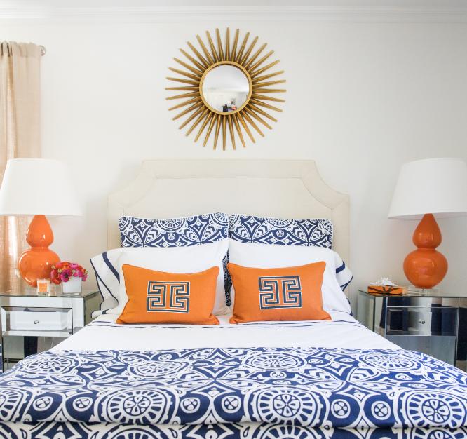 BEDROOM - ORANGE AND BLUE