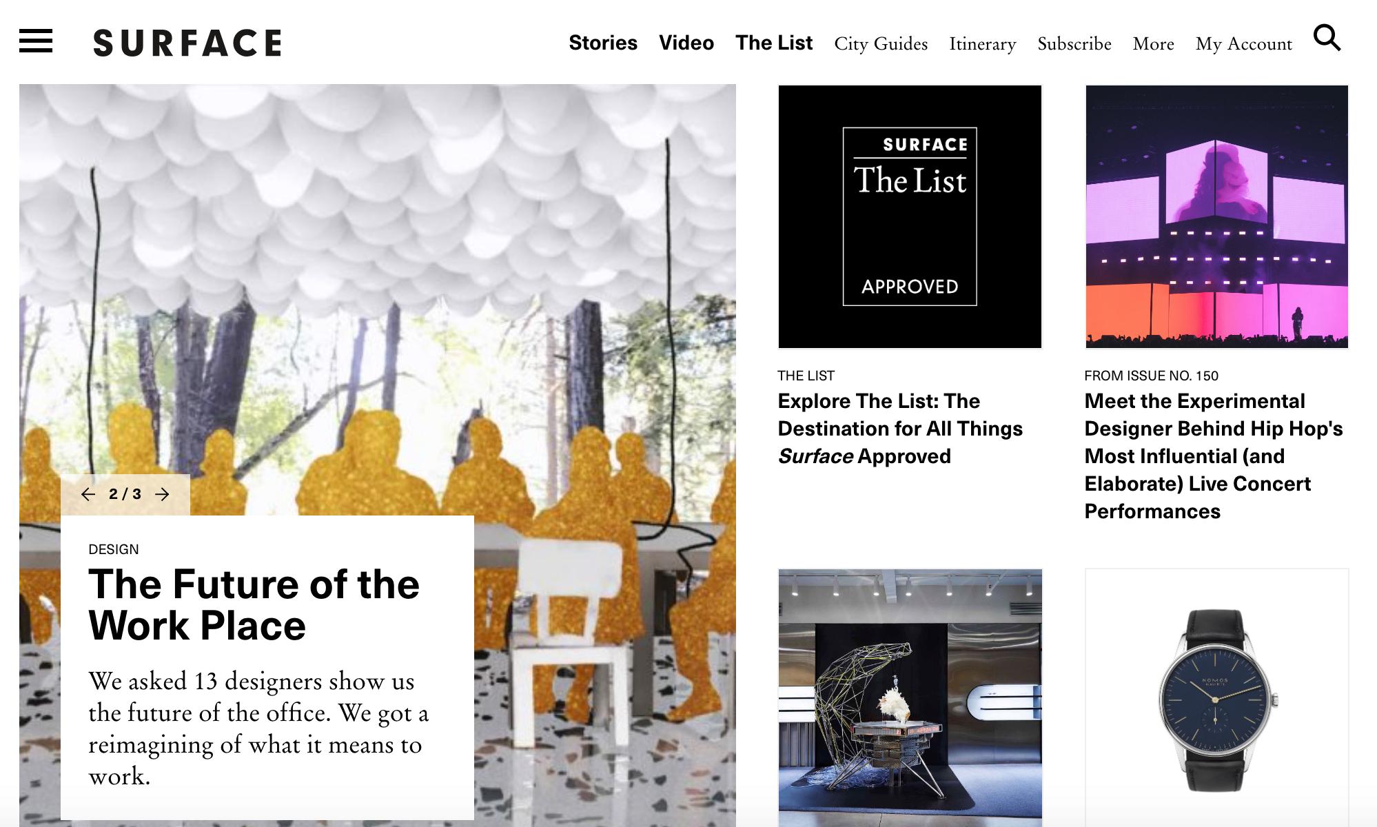 Surface Magazine -