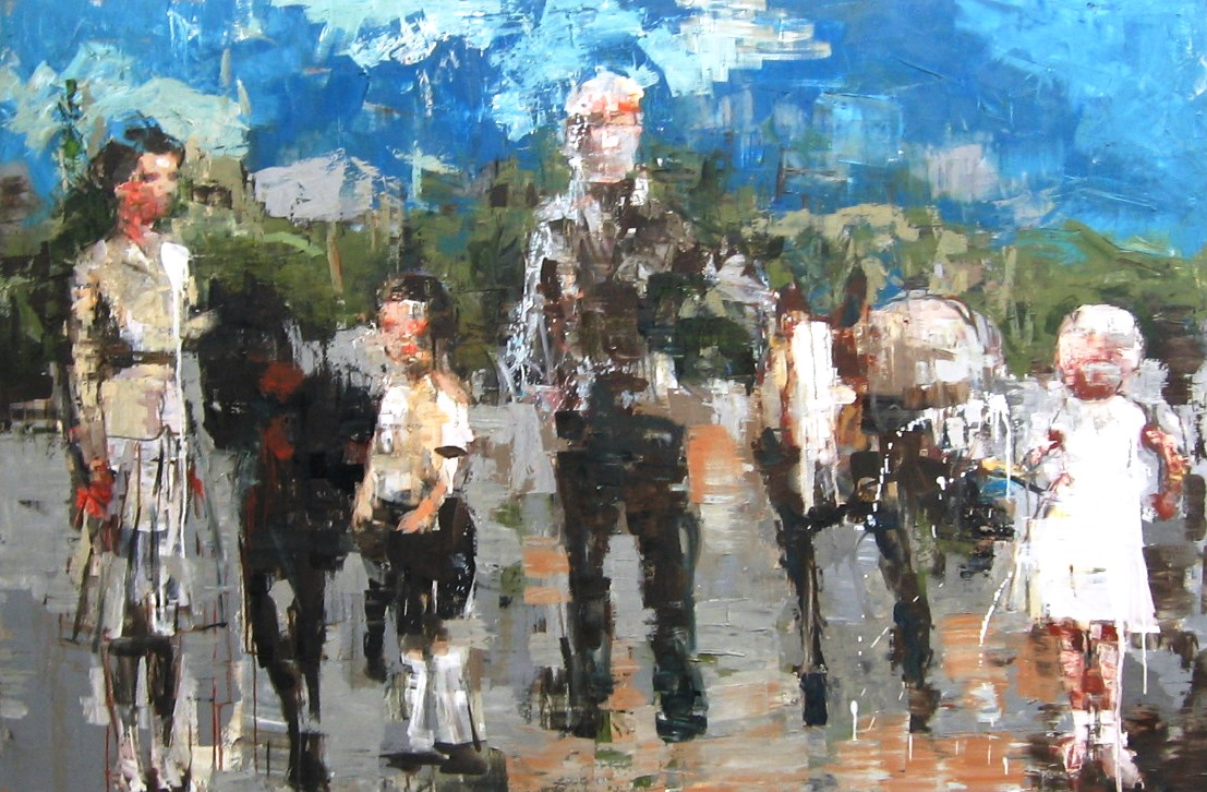 Rimi Yang- Family with Ponies c.s- 72x48.JPG