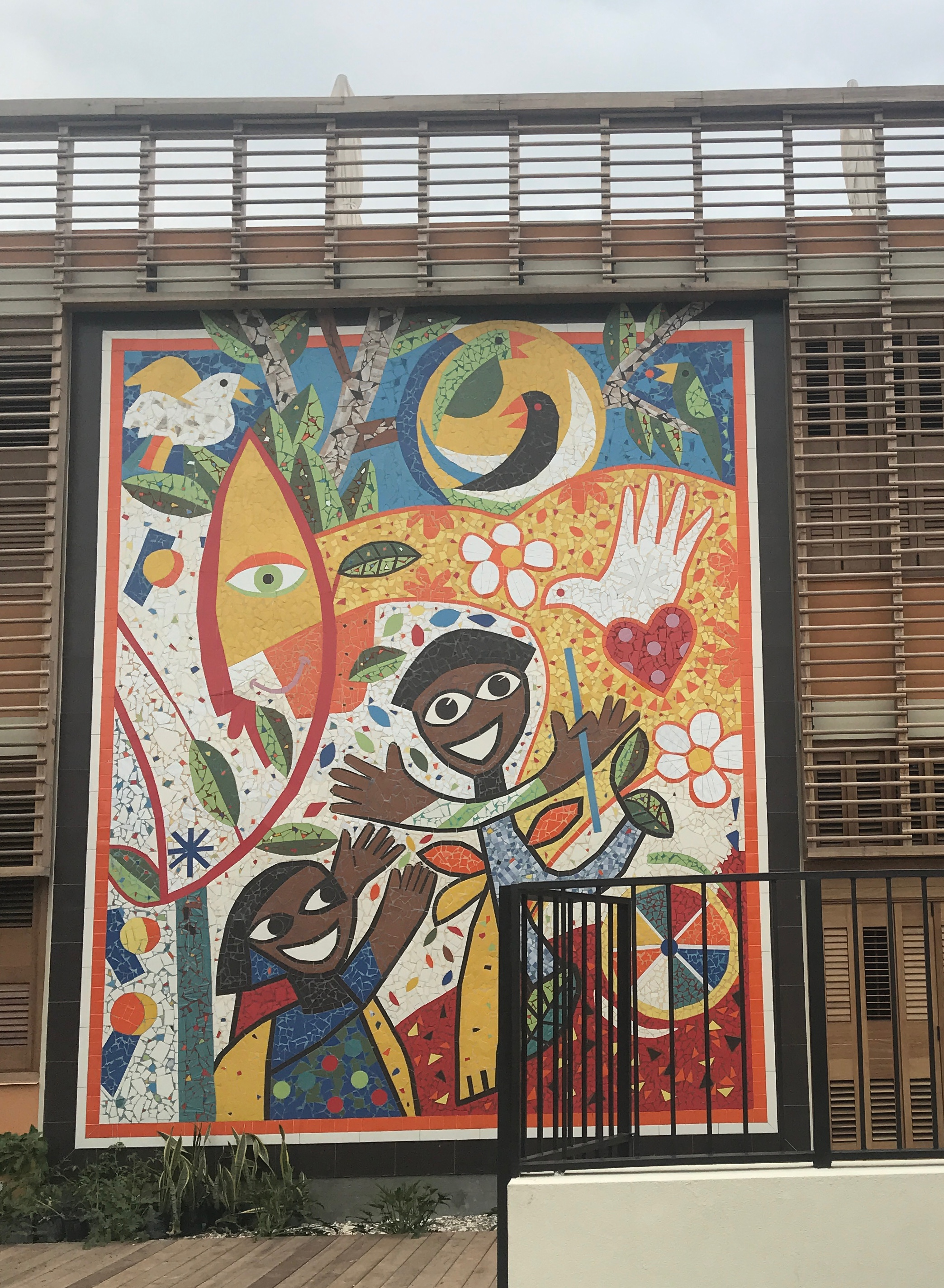 Completed mural welcomes visitors
