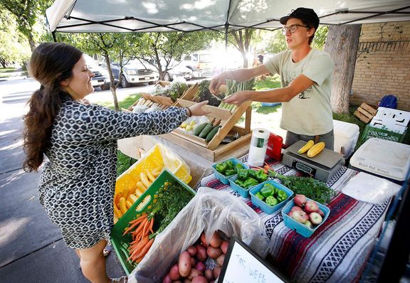 Max Kirks, owner of High Pines Produce, says a new state grant will help growers provide healthier, fresher food to people in need at both food banks and pantries. Durango Herald file photo.
