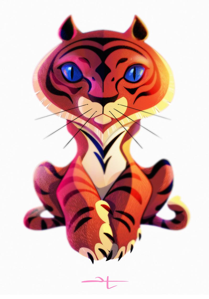 Tiger - Savasana pose
