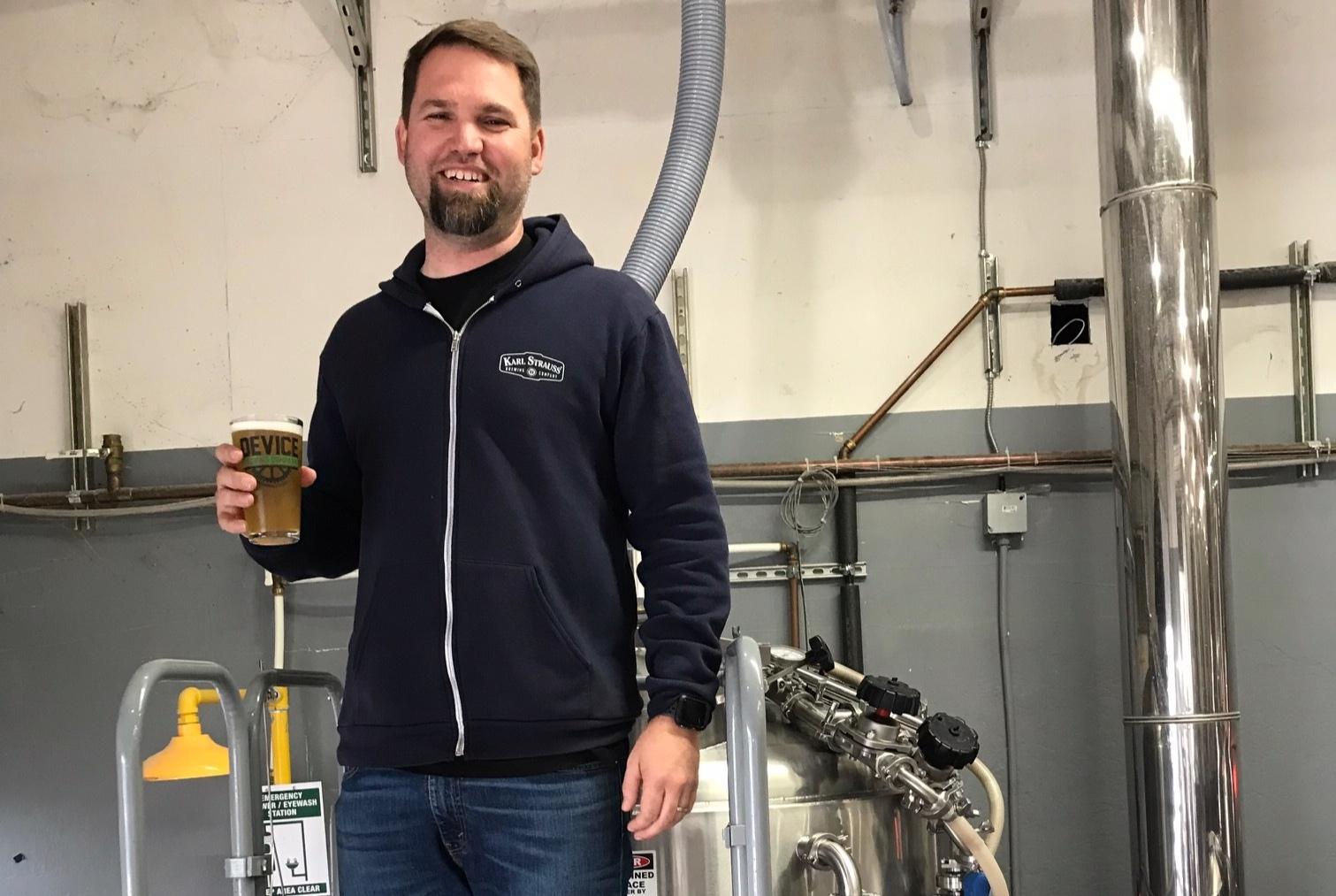 Karl Strauss Head Brewer Sean Albrecht at Device Brewing