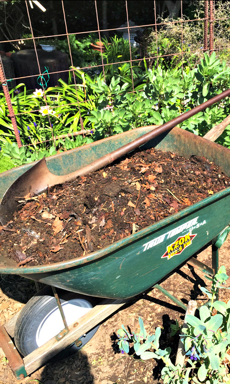 Ready to spread compost