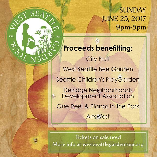 We are just a week away from the #WestSeattleGardenTour! If you haven't already, be sure to pick up your tickets at Junction True Value, @westseattlenursery, @swansonsnurseryseattle, or @wellsmedinanursery. You may also buy online by Wed 6/21, and have your tickets delivered straight to your home! https://www.westseattlegardentour.org/tickets/ #soexcited #gardening #westseattle