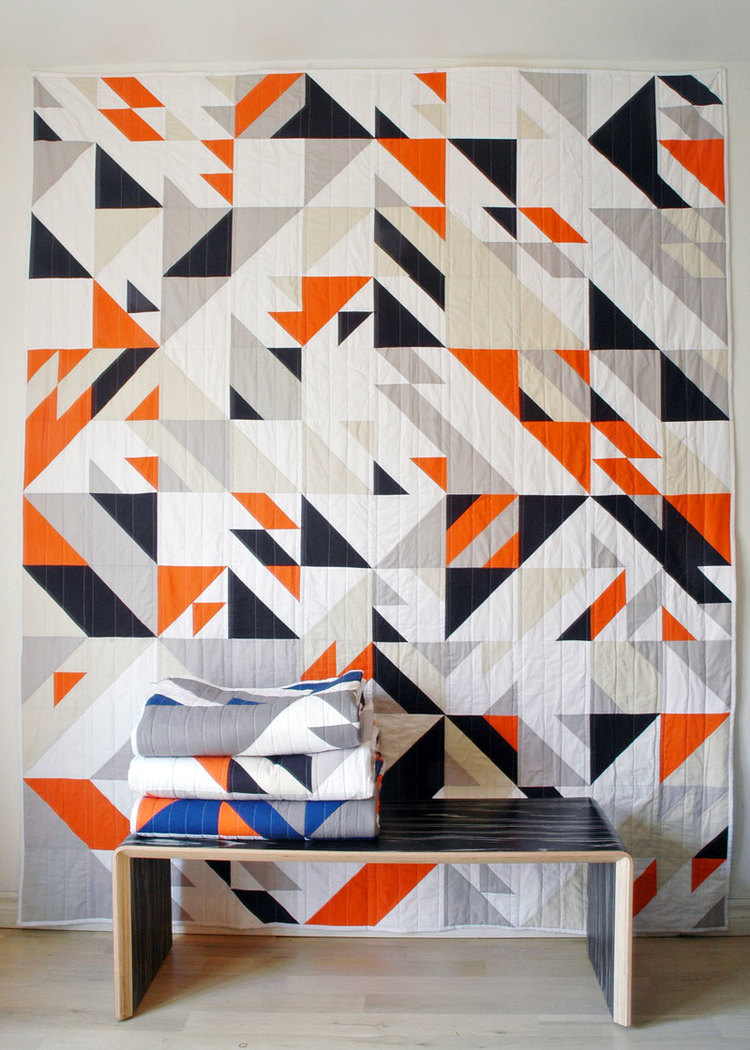 Technology and handmade collide with  Libs Elliot quilts