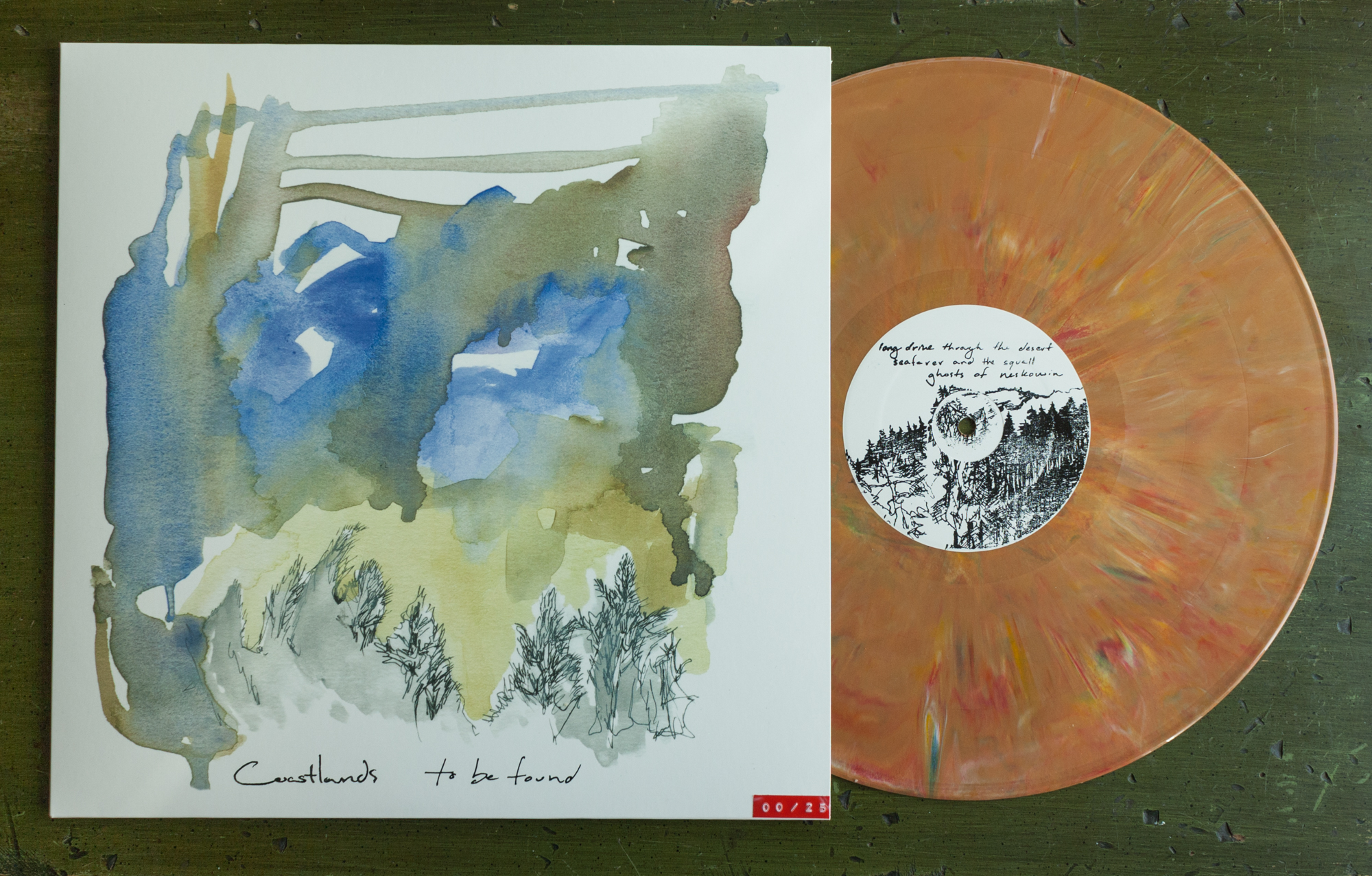 To Be Found, album cover and illustration on vinyl
