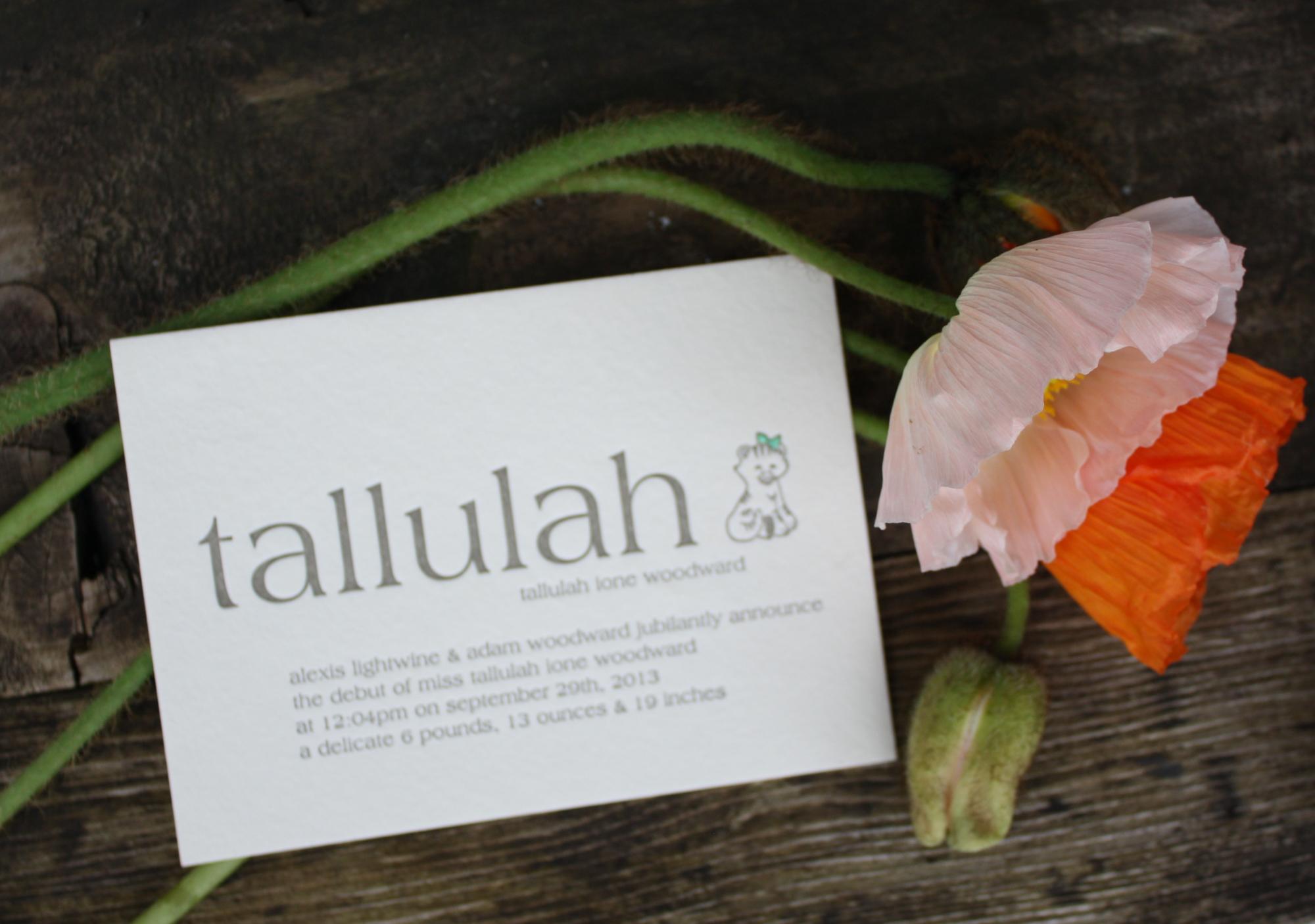 The Talluhah Announcement
