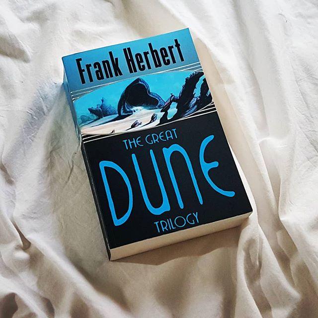 Alright Frank, let's do this. #dune #frankherbert #rainyday #read #tbr #bookish #goals #classic #scifi #trilogy #book #intergalactic #politics #intrigue #drama #destiny #crysknife #desert #planet #sandworm #reader #booklover #📚