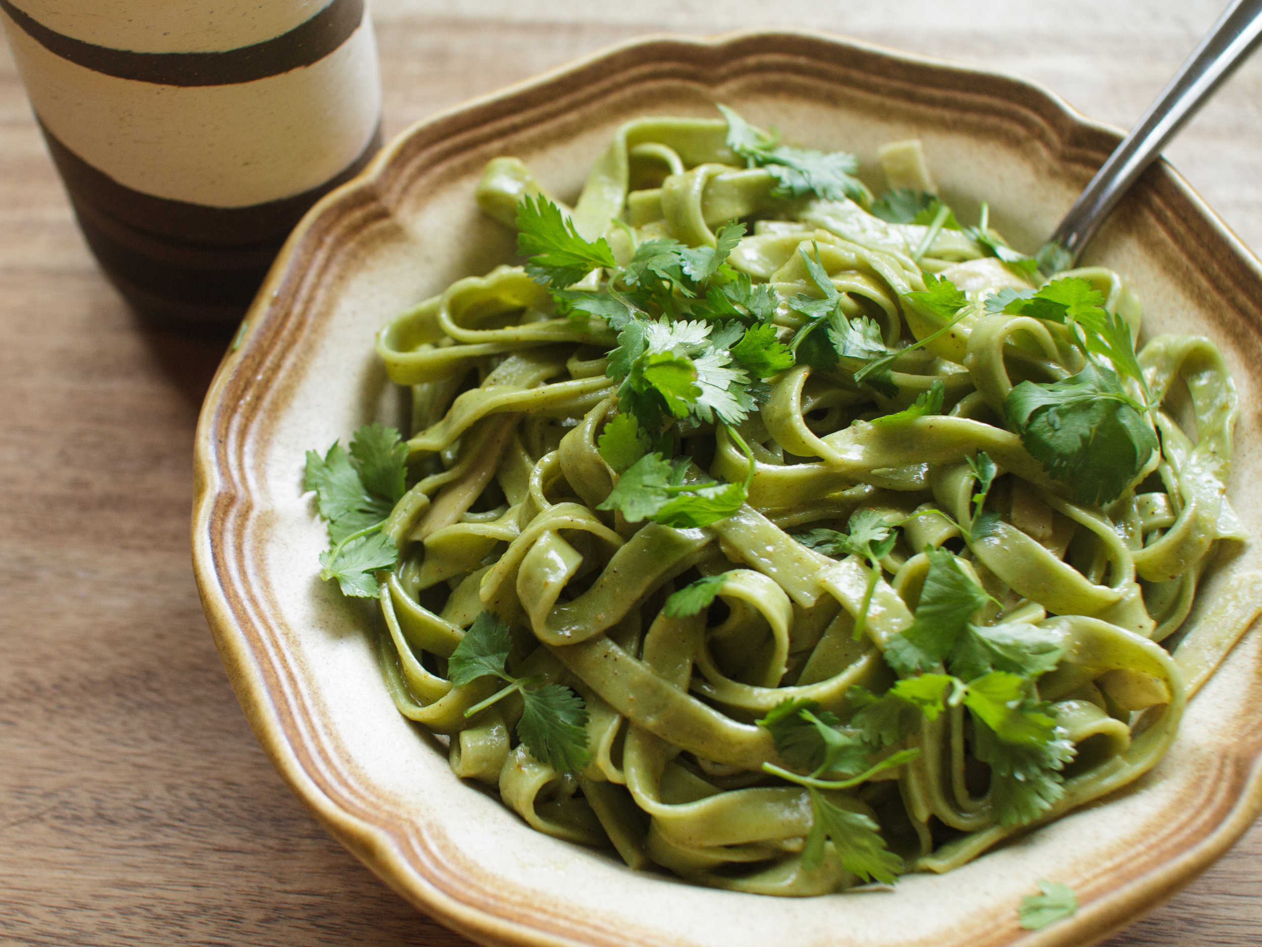 spinach linguine curry butter cilantro.jpg
