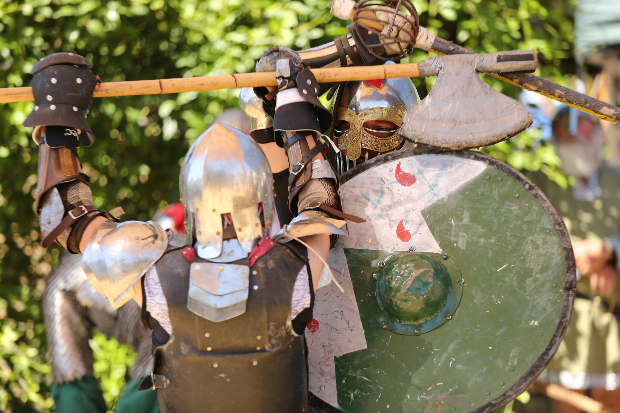 Battles & Weapons Range - Exciting Viking battles will be fought on our list field. At the Weapons Range, our expert instructors will train you in the skills of Axe Throwing, Spear Throwing, and Archery.