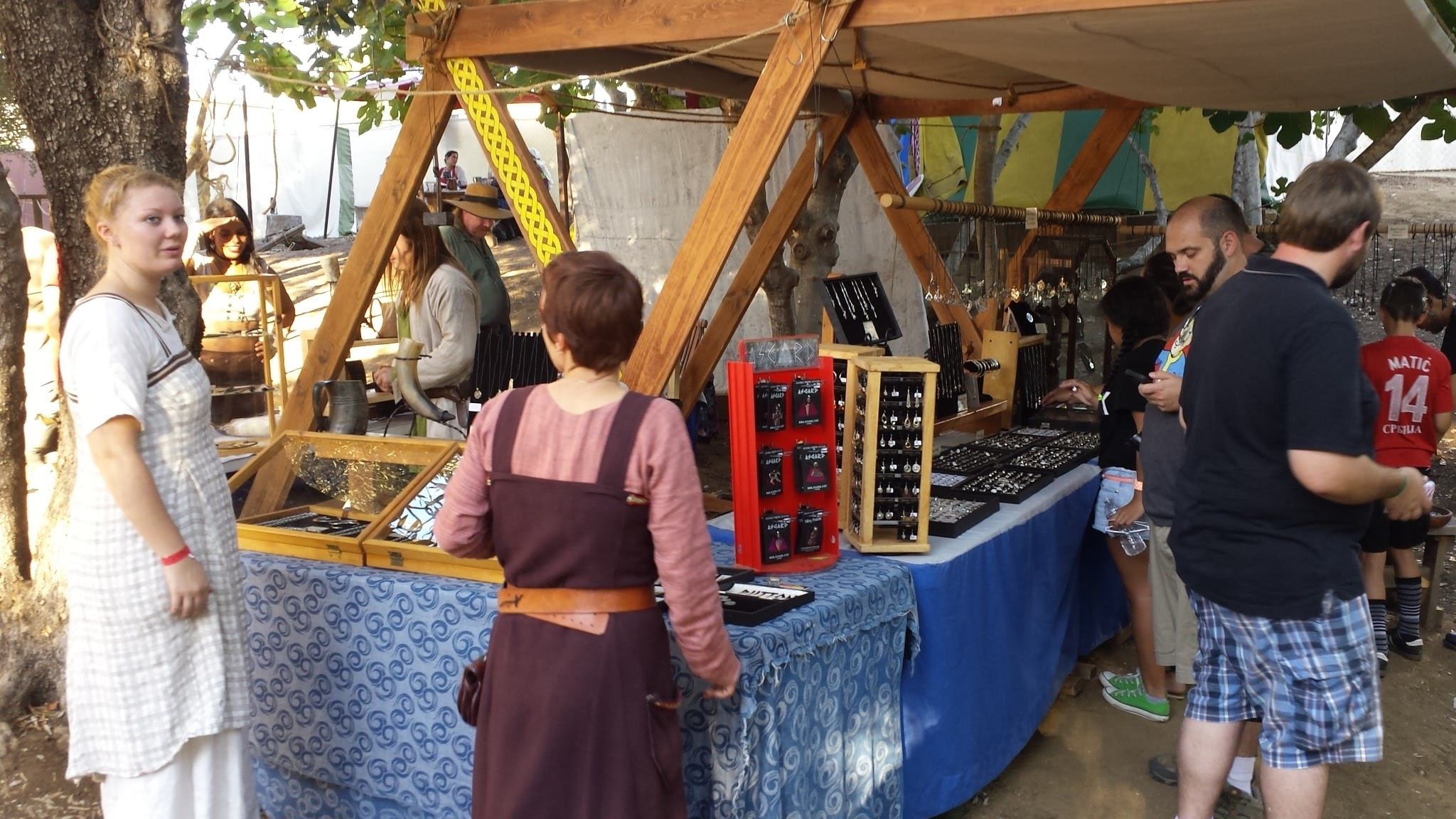 Many vendors with many exotic treasures and Scandinavian crafts at the Viking Marketplace. (Photo: James Nelson.Lucas