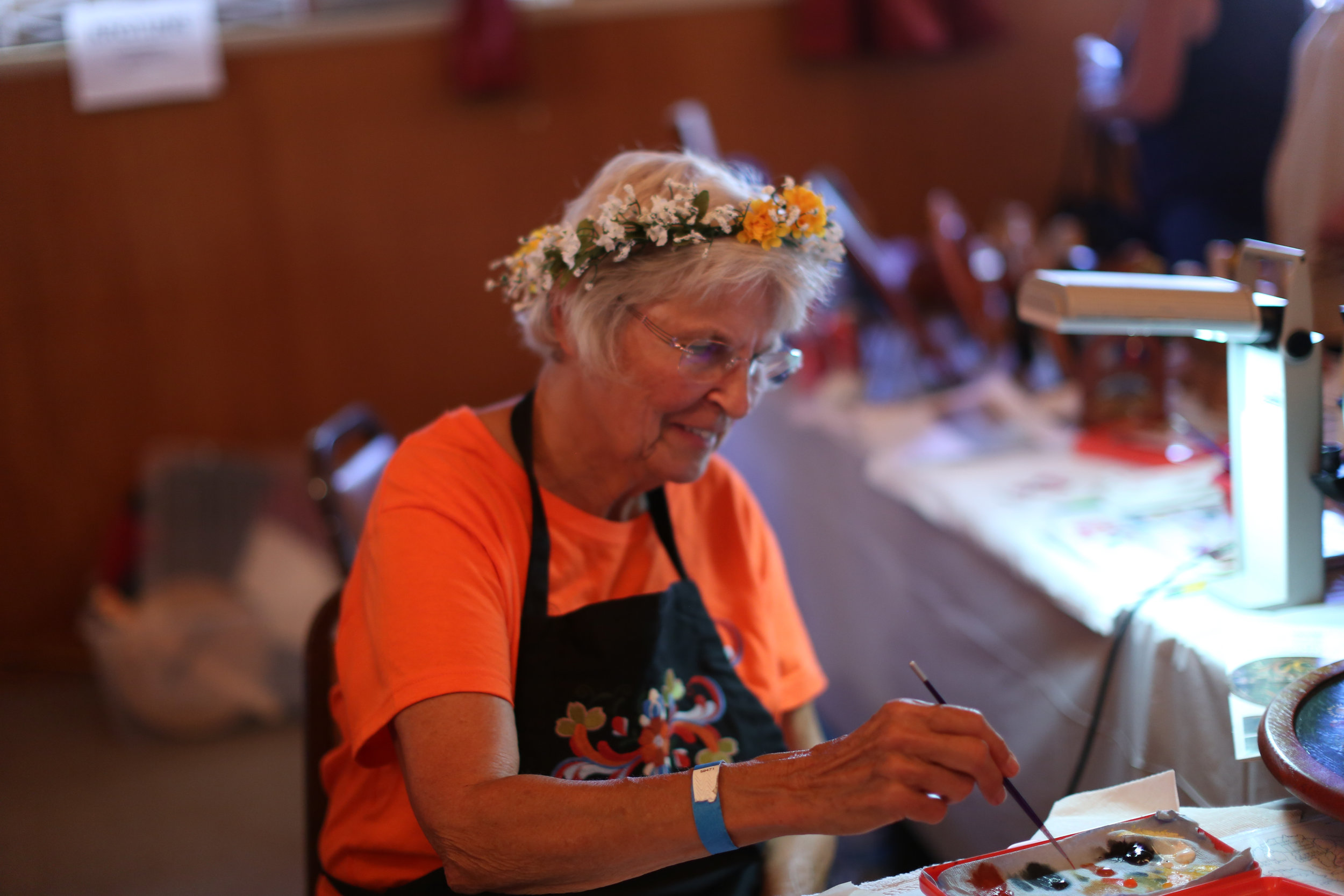 Norway Heritage Hall. Fresh Lefse, Krumkake. Hand crafts and imports from Scandinavia. (Photo: Vista Viking Festival)
