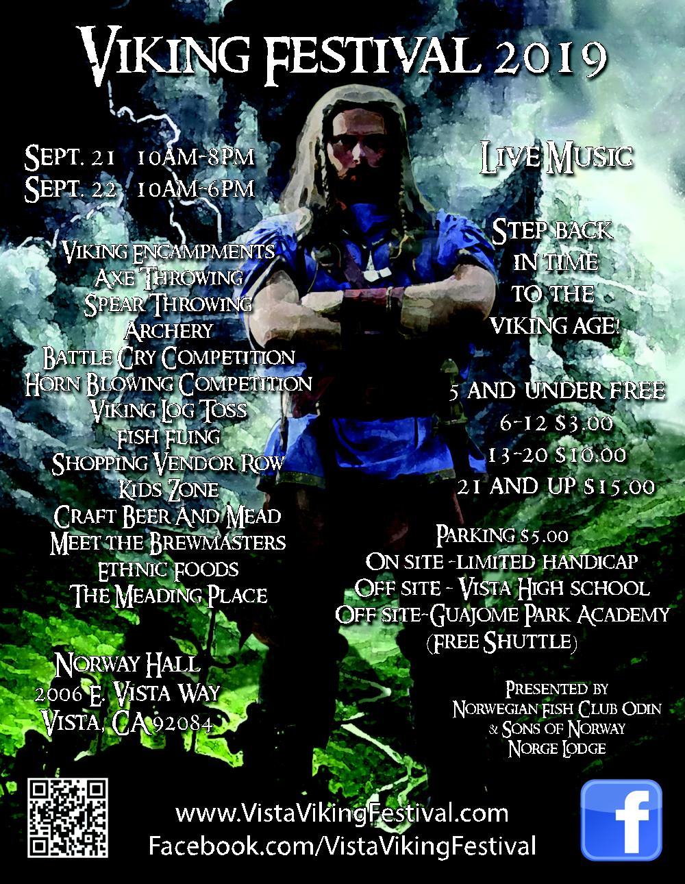 Odin of Vista Viking Festival and Norwegian Fish Club Odin.