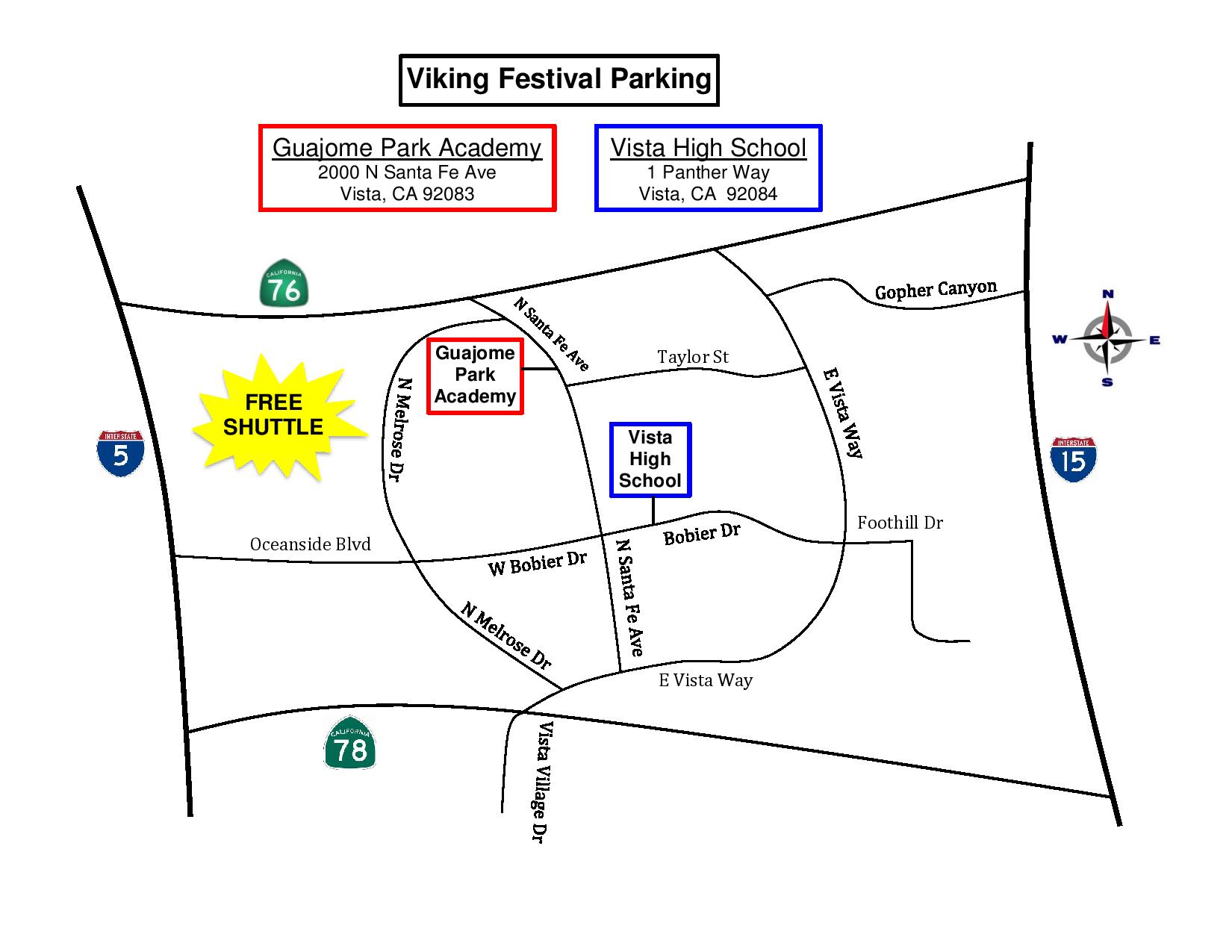 Off Site Parking Map