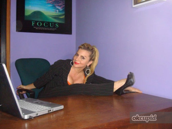 OkCupid User:  Namaste-Yall  44 • F • Eads, TN     My self-summary  I love fun and life and YEA I'm divorced but I am definitely not damaged goods!! I am a Yoga Instructor in Eads, and while I may have a *checkered* past I'm still a sweet tea drinkin', church on Sunday southern gal…My ex-husband was a musician and truly broke my heart…His name is Dale Spalding–search him on the internet he played with Canned Heat!!    What I'm doing with my life  Currently looking for someone who will *rock my gypsy soul* to quote Van the man!! I've made a commitment to personal growth after the incidents; understanding reality as a concept…I work as an office receptionist for a furniture company that I won't mention by name but it rhymes with Flaymour and Ranigan :)    The first things people usually notice about me  I have a funky style and unfortunately, a bit of an odor and sometimes I *see* things.    Favorite books, movies, shows, music, and food  Spanish guitar, instrumental, rock and roll…I love Van Morrison and Jackson Browne and a big fan of Canned Heat…I used to date a member of the band!! I love poetry and studying the mystics…I read the Dalai Lama…and books on spirituality and Sanskrit and Tamil literature, which got me into a little bit of trouble…I am a vegetarian after THAT incident…I have SERIOUS gas issues…I like Ted Talks and travel to TedX events often but I would love a traveling partner..The Power of the Subconscious, books by Wayne Dyer, one of my favorite books is by Gabrielle Marquez, 100 Years of Solitude – magic realism definitely speaks to me…What Dreams May Come is my favorite film of all time.    I spend a lot of time thinking about  A young border collie by the name of Dakota who died two years ago! Rest in peace, Dakota! Mommy misses you!    On a typical Friday night I am  Doing yoga, reading, staying out at a bar til it closes, listening to music at home, crying, clearing my subconscious of all the negative thoughts through affirmation!!    The most 