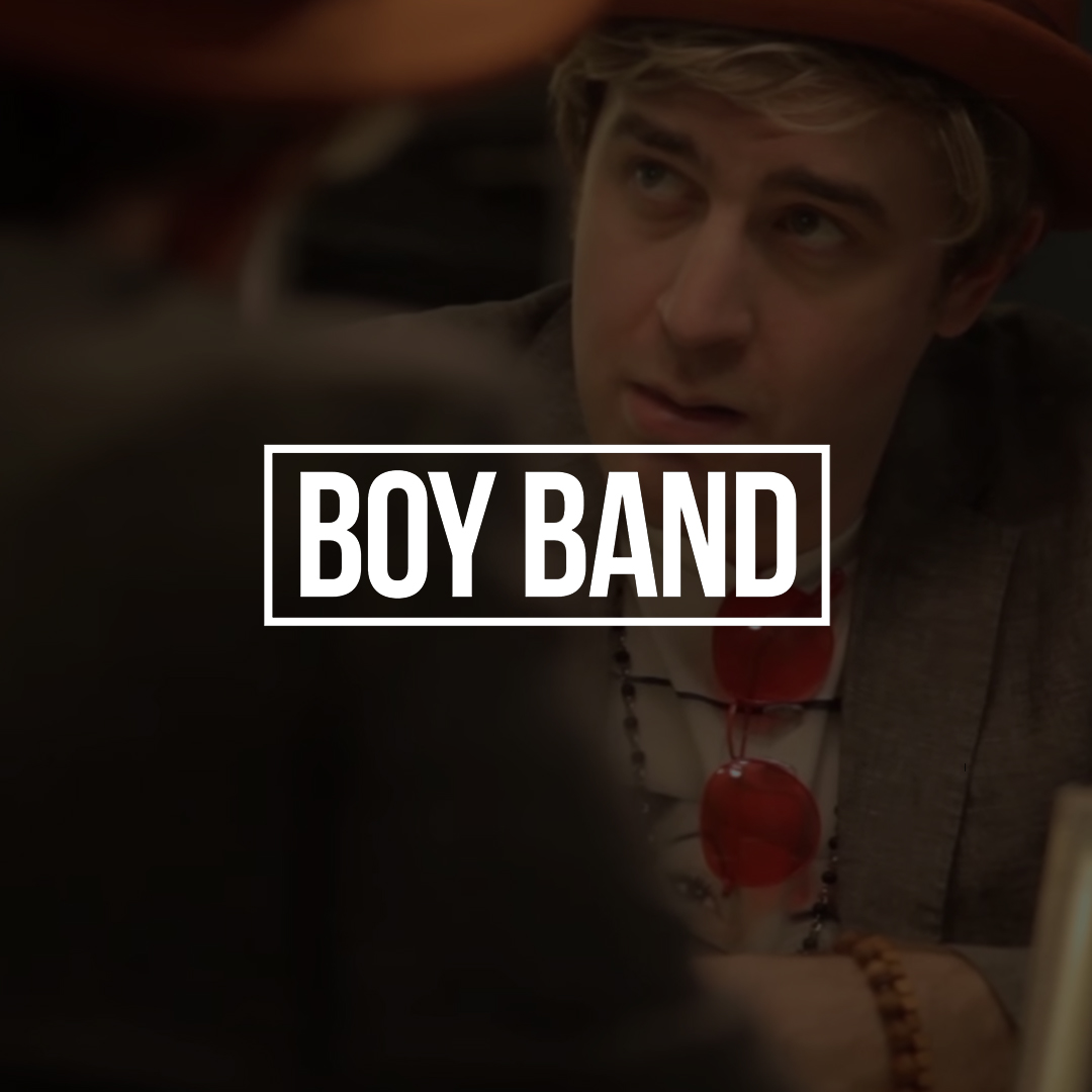 BOY BAND    Follow disgraced pop star Shane turns three confused and tired teenagers into pop stars in this  IFC Comedy Crib series .