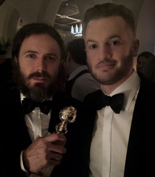 John Powers Middleton & Casey Affleck at the Golden Globes 2017