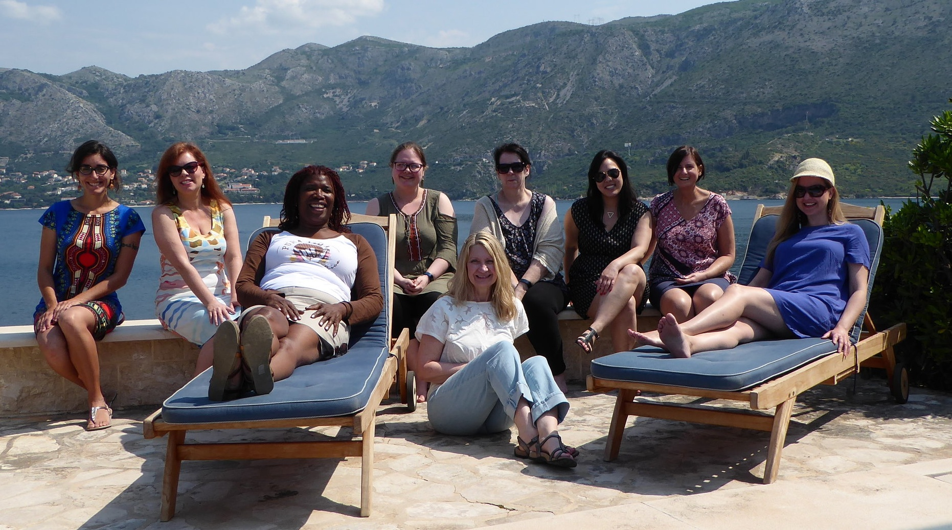 Relaxing after some serious writing sprints in Cavtat, Croatia.