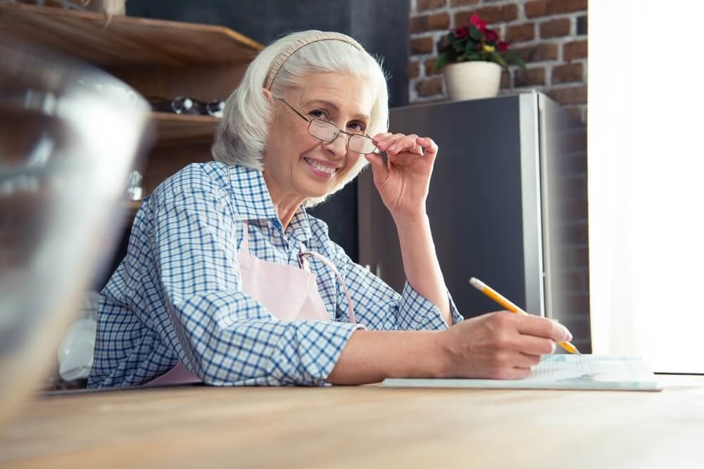 Middle-aged Woman Writing.jpg