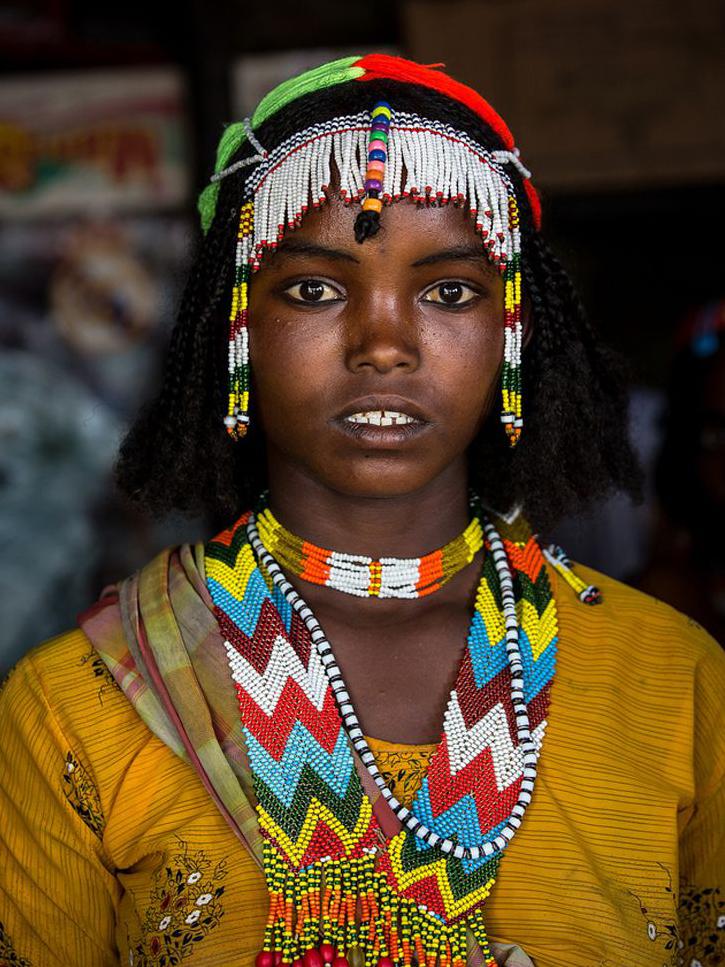 Oromo girl in Chiro, Ethiopia.