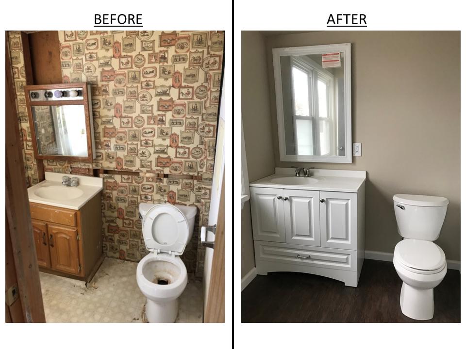 Left Side - 1st Floor Bathroom
